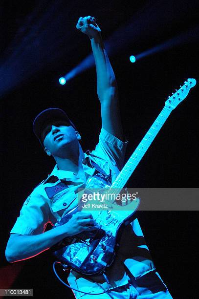Musician Tom Morello of the band Rage Against the Machine performs during the Vegoose Music Festival 2007 at Sam Boyd Stadium on October 28 2007 in...