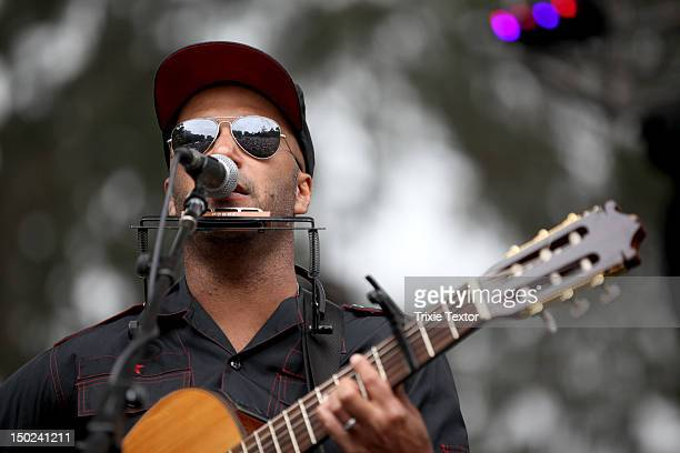 Musician Tom Morello of The Nightwatchman performs onstage at the Sutro Stage during Day 3 of the 2012 Outside Lands Music and Arts Festival at...