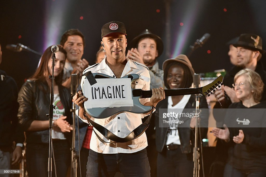 Musician Tom Morello performs on stage during the Imagine: John Lennon 75th Birthday Concert at The Theater at Madison Square Garden on December 5, 2015 in New York City.