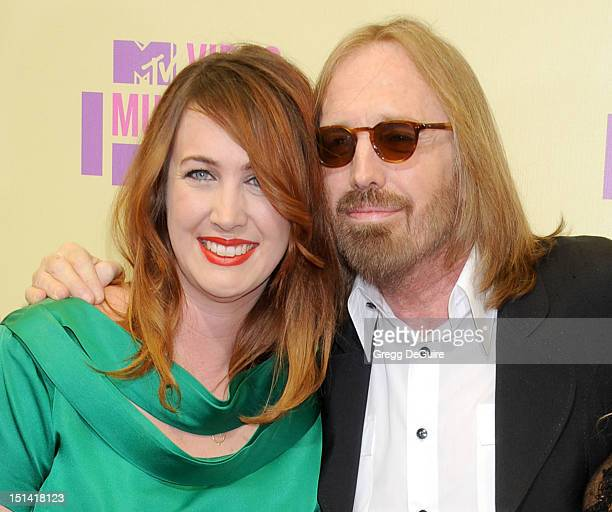 Musician Tom Petty and daughter Adria Petty arrive at 2012 MTV Video Awards at Staples Center on September 6 2012 in Los Angeles California