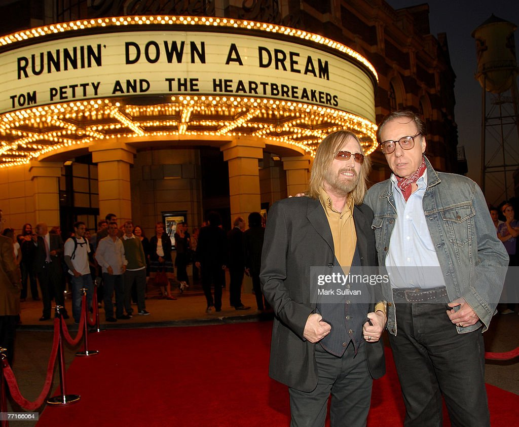 Musician Tom Petty and director Peter Bogdanovich arrive at Runnin' Down A Dream: Tom Petty and The Heartbreakers premiere held in Burbank, California on October 2, 2007.