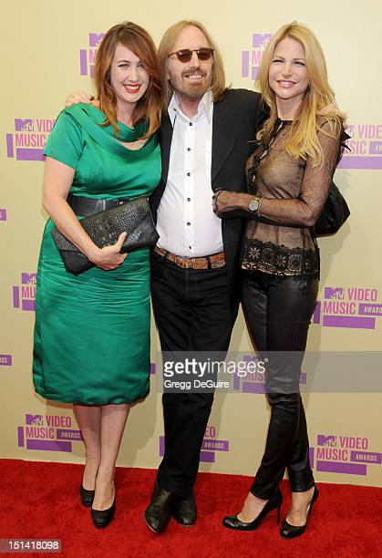 Musician Tom Petty daughter Adria Petty and wife Dana Petty arrive at 2012 MTV Video Awards at Staples Center on September 6 2012 in Los Angeles...