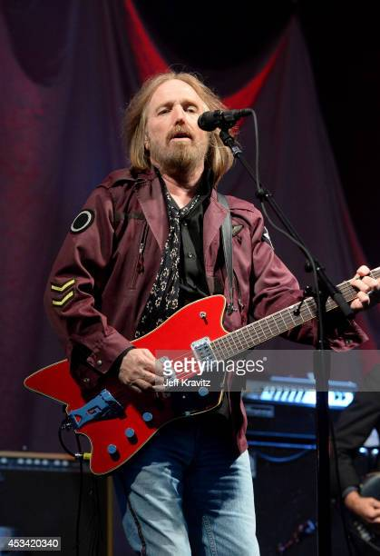 Musician Tom Petty The Heartbreakers performs at the Lands End Stage during day 2 of the 2014 Outside Lands Music and Arts Festival at Golden Gate...