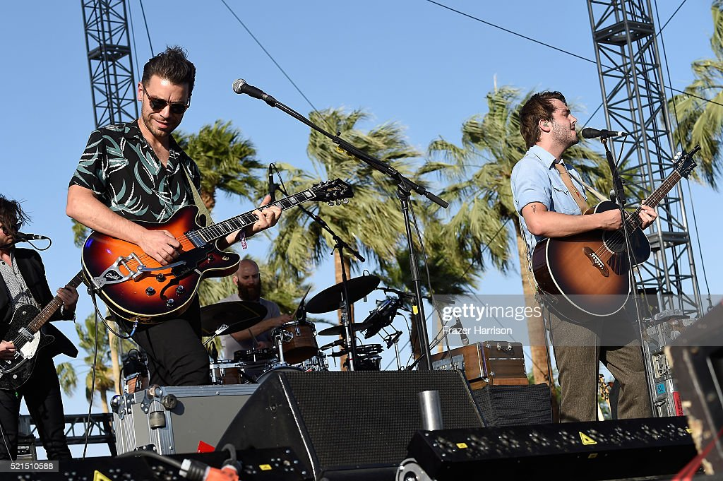 Musician Tom Renaud of Lord Huron performs onstage during day 1 of the 2016 Coachella Valley Music Arts Festival Weekend 1 at the Empire Polo Club on...