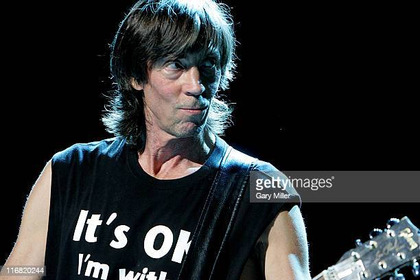 Musician Tom Scholz of Boston performs in concert at the Verizon wireless Amphitheater on June 21 2008 in San Antonio Texas
