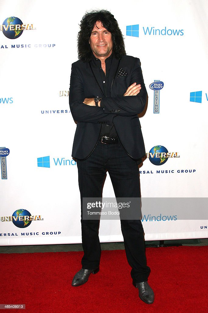 Musician <a gi-track='captionPersonalityLinkClicked' href=/galleries/search?phrase=Tommy+Thayer&family=editorial&specificpeople=235930 ng-click='$event.stopPropagation()'>Tommy Thayer</a> attends the Universal Music Group 2014 post GRAMMY party held at The Ace Hotel Theater on January 26, 2014 in Los Angeles, California.