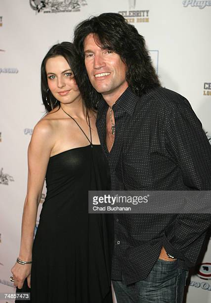 Musician Tommy Thayer of the rock band KISS and his wife Amber attend the 2nd Annual All Star Night at the Playboy Mansion on June 21 2007 in Holmby...