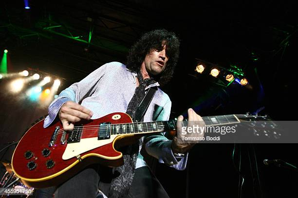Musician Tommy Thayer performs at the 7th annual Scott MedlockRobby Krieger Invitational AllStar Concert benefiting St Jude held at Moorpark Country...