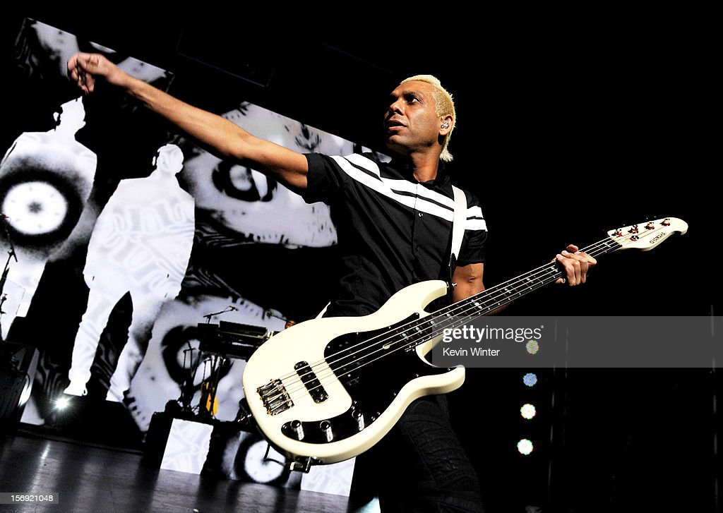 Musician Tony Kanal of No Doubt performs at Gibson Amphitheatre on November 24, 2012 in Universal City, California.