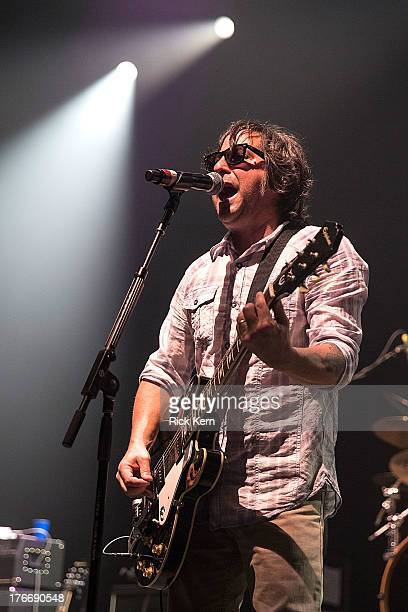 Musician Tony Scalzo of Fastball performs in concert as part of Under The Sun 2013 Tour at ACL Live on August 16 2013 in Austin Texas