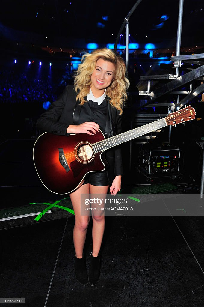 Musician <a gi-track='captionPersonalityLinkClicked' href=/galleries/search?phrase=Tori+Kelly&family=editorial&specificpeople=7495626 ng-click='$event.stopPropagation()'>Tori Kelly</a> backstage during the 48th Annual Academy Of Country Music Awards - ACM Fan Jam at Orelans Arena on April 7, 2013 in Las Vegas, Nevada.