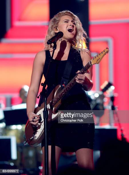 Musician Tori Kelly during The 59th GRAMMY Awards at STAPLES Center on February 12 2017 in Los Angeles California