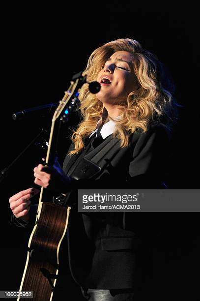 Musician Tori Kelly performs onstage during the 48th Annual Academy Of Country Music Awards ACM Fan Jam at Orelans Arena on April 7 2013 in Las Vegas...
