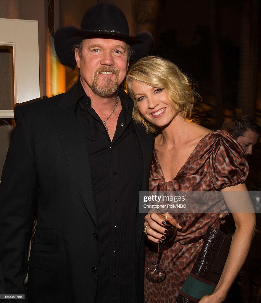 Musician <a gi-track='captionPersonalityLinkClicked' href=/galleries/search?phrase=Trace+Adkins&family=editorial&specificpeople=224686 ng-click='$event.stopPropagation()'>Trace Adkins</a> and actress <a gi-track='captionPersonalityLinkClicked' href=/galleries/search?phrase=Jenna+Elfman&family=editorial&specificpeople=204782 ng-click='$event.stopPropagation()'>Jenna Elfman</a> at the NBCUniversal 2013 TCA Winter Press Tour Party held at The Langham Huntington Hotel and Spa on January 6, 2013 in Pasadena, California.