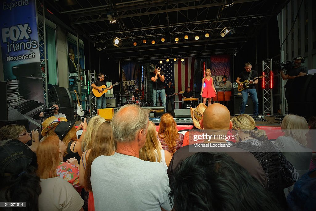 Musician Trace Adkins performs during 'FOX & Friends' All American Concert Series outside of FOX Studios on July 1, 2016 in New York City.