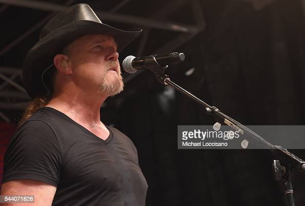 Musician Trace Adkins performs during 'FOX Friends' All American Concert Series outside of FOX Studios on July 1 2016 in New York City