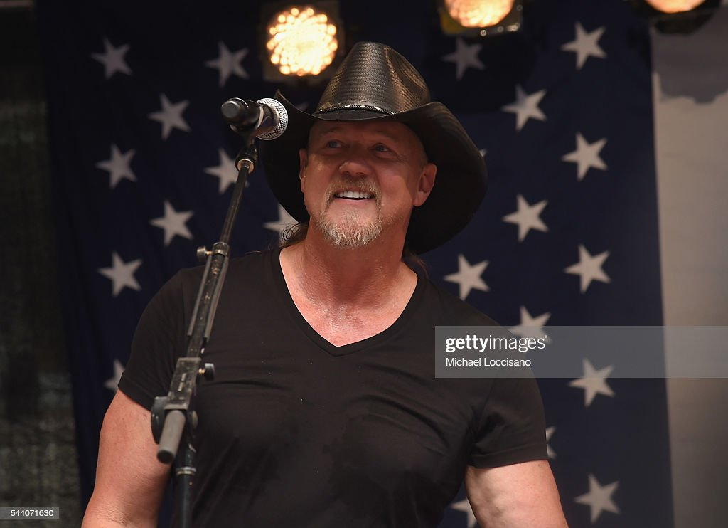 Musician <a gi-track='captionPersonalityLinkClicked' href=/galleries/search?phrase=Trace+Adkins&family=editorial&specificpeople=224686 ng-click='$event.stopPropagation()'>Trace Adkins</a> performs during 'FOX & Friends' All American Concert Series outside of FOX Studios on July 1, 2016 in New York City.
