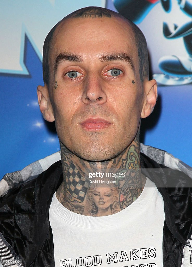 Musician Travis Barker attends the opening night of Disney On Ice's 'Dare To Dream' at LA Kings Holiday Ice at L.A. LIVE on December 12, 2012 in Los Angeles, California.