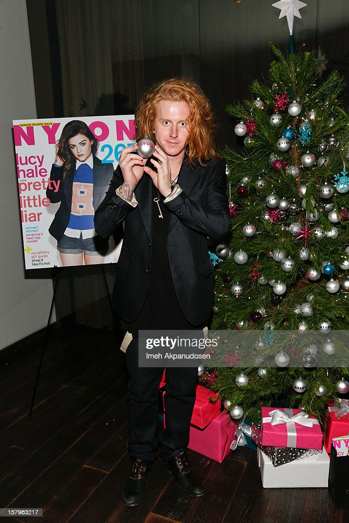 Musician Travis Clark of We The Kings attends the Celebration of NYLON's December/January Cover Star Lucy Hale Presented by bebe at Andaz Hotel on December 7, 2012 in Los Angeles, California.