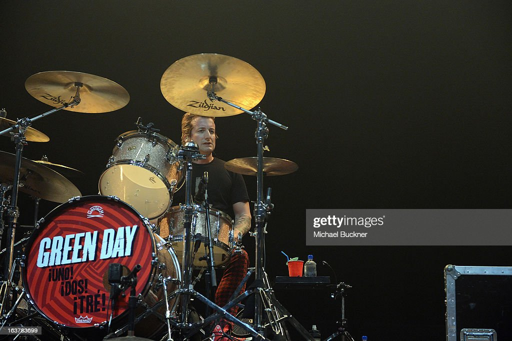 Musician Tre Cool of Green Day performs during the 2013 SXSW Music, Film + Interactive Festival at ACL Live on March 15, 2013 in Austin, Texas.