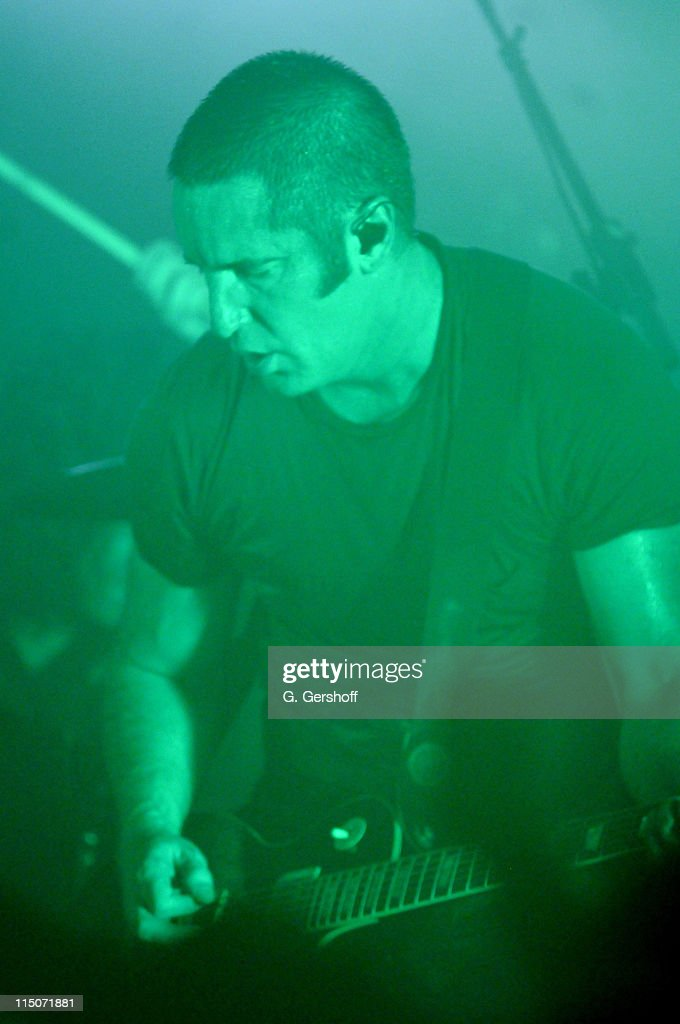 Musician <a gi-track='captionPersonalityLinkClicked' href=/galleries/search?phrase=Trent+Reznor&family=editorial&specificpeople=239036 ng-click='$event.stopPropagation()'>Trent Reznor</a> of <a gi-track='captionPersonalityLinkClicked' href=/galleries/search?phrase=Nine+Inch+Nails&family=editorial&specificpeople=799973 ng-click='$event.stopPropagation()'>Nine Inch Nails</a> performs live at The Bowery Ballroom on August 22, 2009 in New York City.