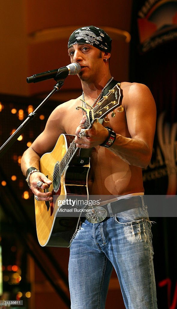 Musician Trent Tomlinson performs during day one of the Academy of Country Music All Star Concert at the Fremont Street Experience May 12 2007 in Las...