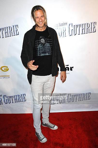 Musician Trevor Guthrie arrives for PreGrammy Celebration Party For Trevor Guthrie held at Acabar on January 25 2014 in Los Angeles California