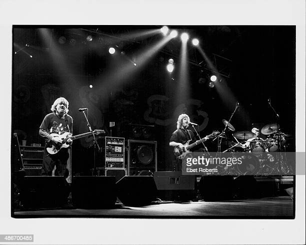 Musician Trey Anastasio on stage with rock band Phish 1994