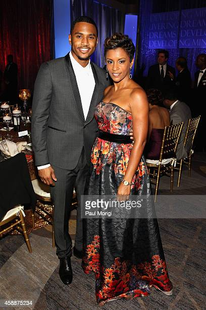 Musician Trey Songz and CEO Angels with Hearts April Tucker attend the Thurgood Marshall College Fund 26th Awards Gala at Washington Hilton on...