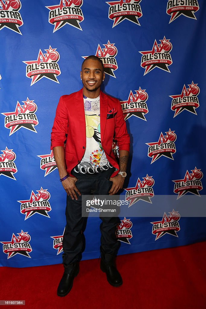 Musician <a gi-track='captionPersonalityLinkClicked' href=/galleries/search?phrase=Trey+Songz&family=editorial&specificpeople=674835 ng-click='$event.stopPropagation()'>Trey Songz</a> poses on the All-Star Red Carpet prior to the 2013 NBA All-Star Game presented by Kia Motors on February 17, 2013 at the Toyota Center in Houston, Texas.