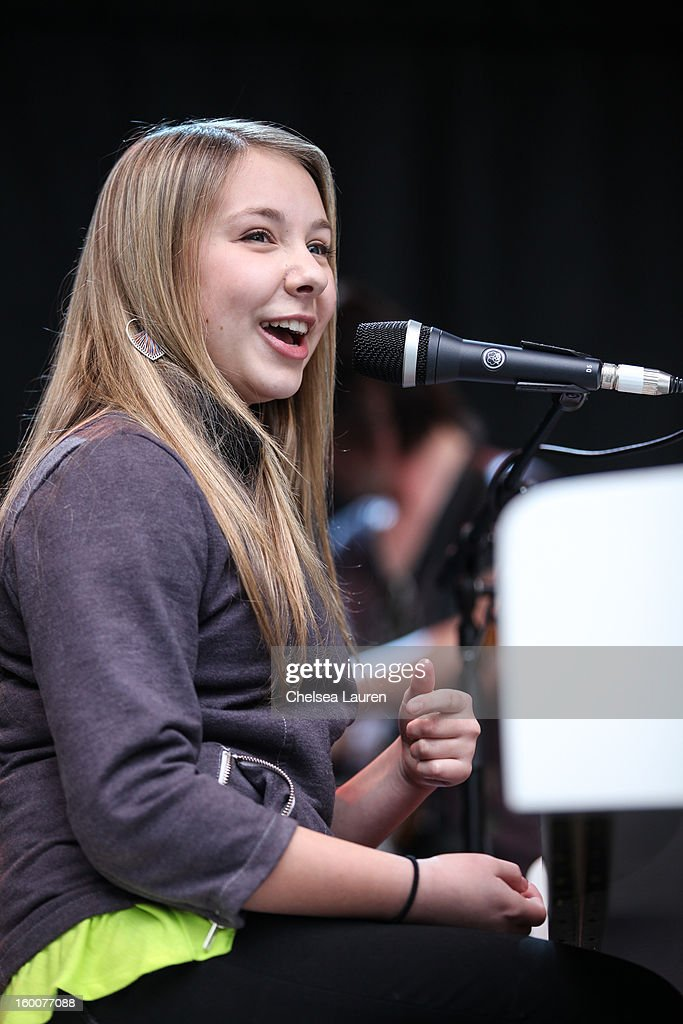Musician / TV personality Anna Graceman performs at the 2013 NAMM show at Anaheim Convention Center on January 25, 2013 in Anaheim, California.