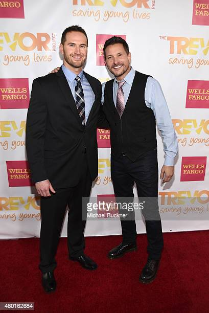 Musician Ty Herndon and Matt Collum attend 'TrevorLIVE LA' Honoring Robert Greenblatt Yahoo and Skylar Kergil for The Trevor Project at Hollywood...