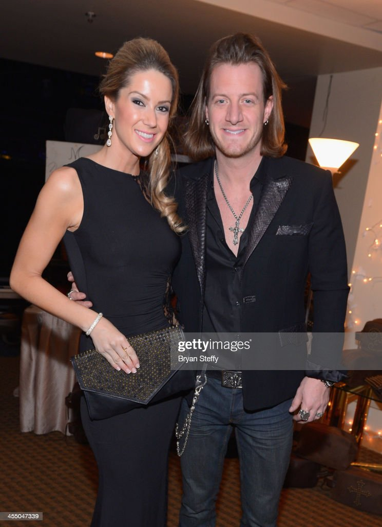 Musician Tyler Hubbard (R) of Florida Georgia Line attends the Backstage Creations Celebrity Retreat at the American Country Awards 2013at the Mandalay Bay Events Center on December 10, 2013 in Las Vegas, Nevada.
