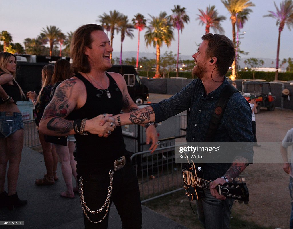 Musician Tyler Hubbard of Florida Georgia Line backstage during day 3 of 2014 Stagecoach: California's Country Music Festival at the Empire Polo Club on April 27, 2014 in Indio, California.