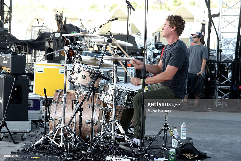 Musician Tyler Schwarz of Surfer Blood performs onstage during day 3 of the 2014 Coachella Valley Music & Arts Festival at the Empire Polo Club on April 13, 2014 in Indio, California.