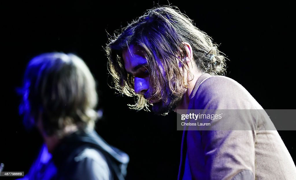Musician <a gi-track='captionPersonalityLinkClicked' href=/galleries/search?phrase=Tyson+Ritter&family=editorial&specificpeople=227469 ng-click='$event.stopPropagation()'>Tyson Ritter</a> of The All-American Rejects performs at Lyme Light: the concert benefiting the tick-borne disease alliance at El Rey Theatre on May 1, 2014 in Los Angeles, California.