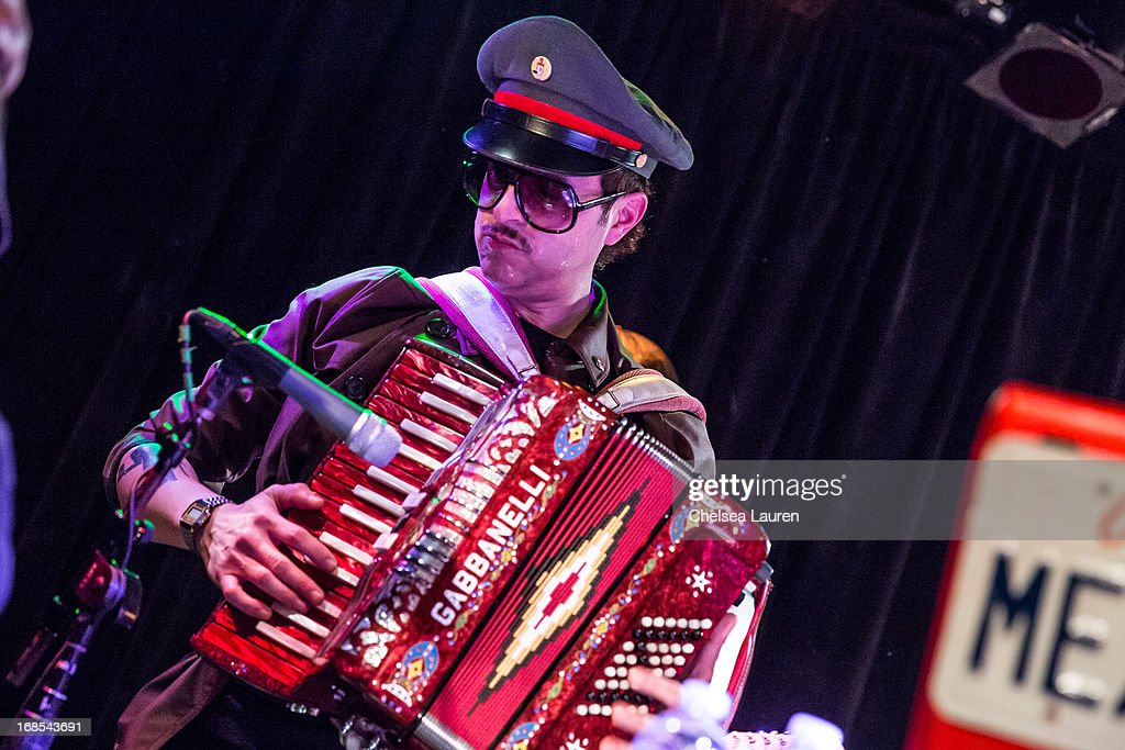 Musician Ulises Lozano performs with Mexican Dubwiser at Viper Room on May 10, 2013 in West Hollywood, California.