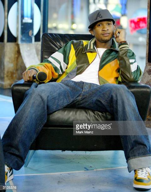 Musician Usher appears on MTV's TRL at the MTV studios in Time Square March 23 2004 in New York City