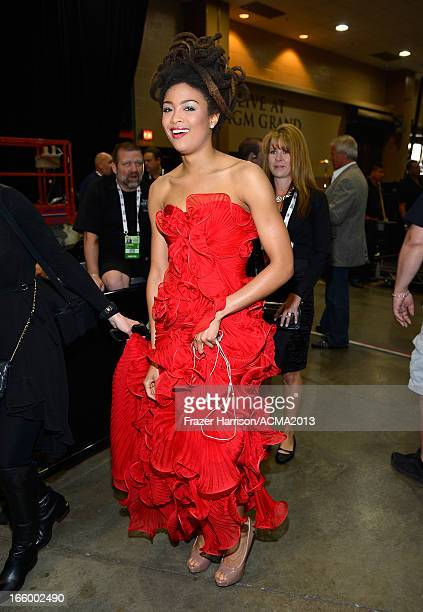 Musician Valerie June attends the 48th Annual Academy of Country Music Awards at the MGM Grand Garden Arena on April 7 2013 in Las Vegas Nevada