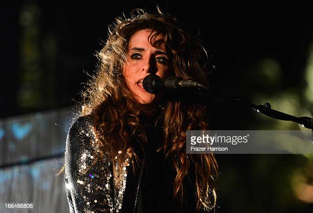 Musician Victoria Legrand of Beach House performs onstage during day 1 of the 2013 Coachella Valley Music Arts Festival at the Empire Polo Club on...
