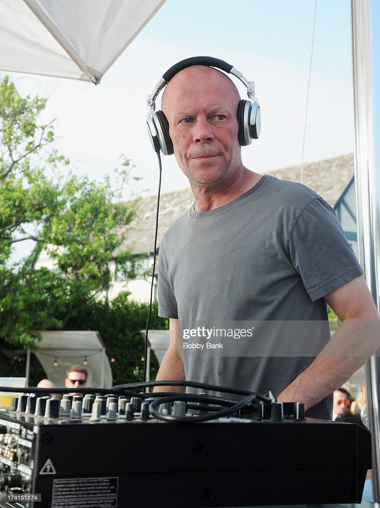 Musician <a gi-track='captionPersonalityLinkClicked' href=/galleries/search?phrase=Vince+Clarke&family=editorial&specificpeople=718159 ng-click='$event.stopPropagation()'>Vince Clarke</a> of Depeche Mode attends the opening celebration of 'Sound Waves At The House' at the Montauk Beach House on July 20, 2013 in Montauk, New York.