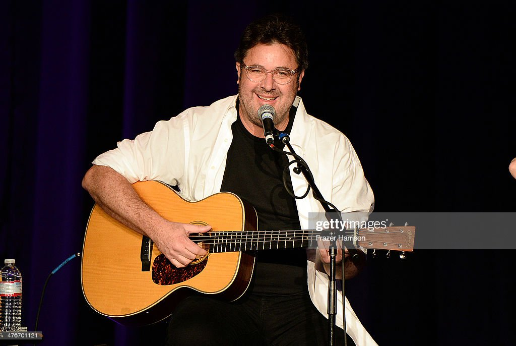 Musician Vince Gill performs onstage during the Country Music Hall Of Fame Museum's 'All For The Hall' fundraising concert at Club Nokia on March 4...