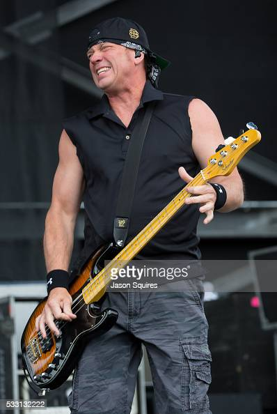 Musician Vince Hornsby of Sevendust performs at MAPFRE Stadium on May 20 2016 in Columbus Ohio