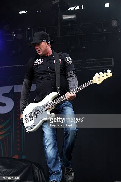 Musician Vincent Hornsby from Sevendust performs during the 'Louder Than Life' festival at Champions Park on October 3 2015 in Louisville Kentucky