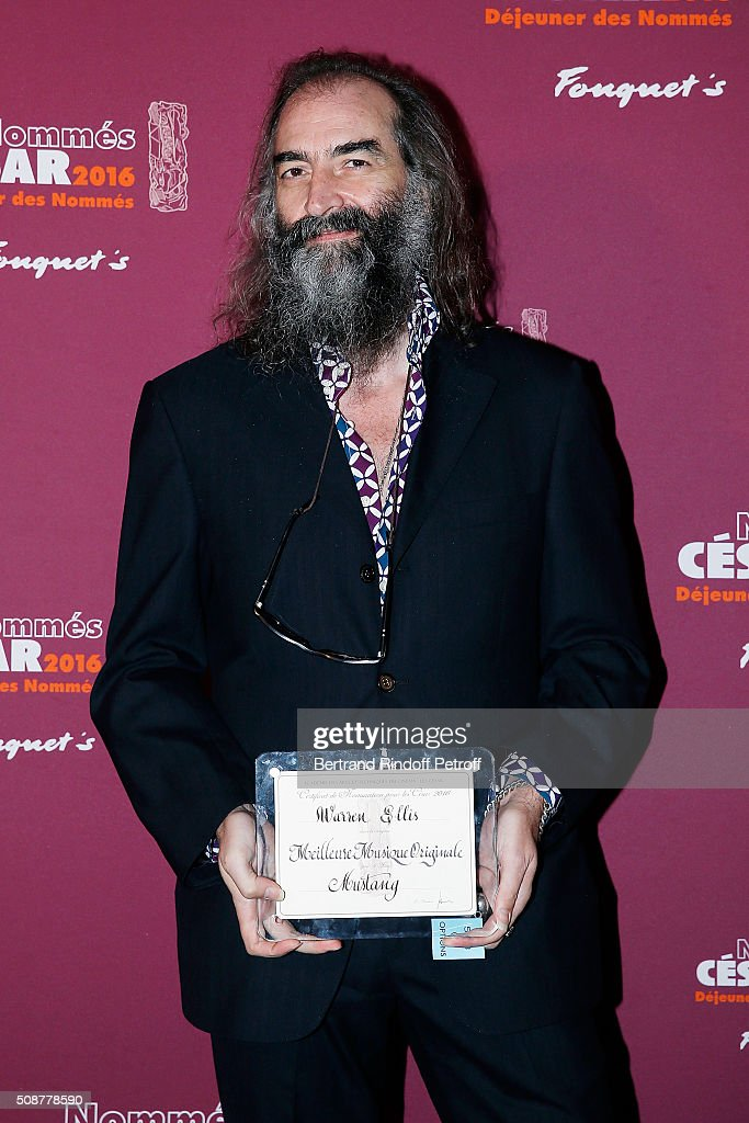 Musician <a gi-track='captionPersonalityLinkClicked' href=/galleries/search?phrase=Warren+Ellis&family=editorial&specificpeople=4451382 ng-click='$event.stopPropagation()'>Warren Ellis</a> attends 'Cesar 2016 Nominee Luncheon' at Le Fouquet's on February 6, 2016 in Paris, France.