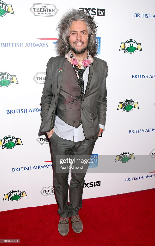 Musician Wayne Coyne of the band The Flaming Lips arriving at The Music of David Lynch Benefiting the 10th anniversary of The David Lynch Foundation at The Ace Hotel Theater on April 1, 2015 in Los Angeles, California.