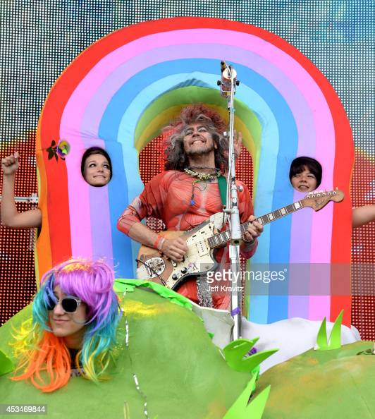 Musician Wayne Coyne of The Flaming Lips performs at the Lands End Stage during day 3 of the 2014 Outside Lands Music and Arts Festival at Golden...