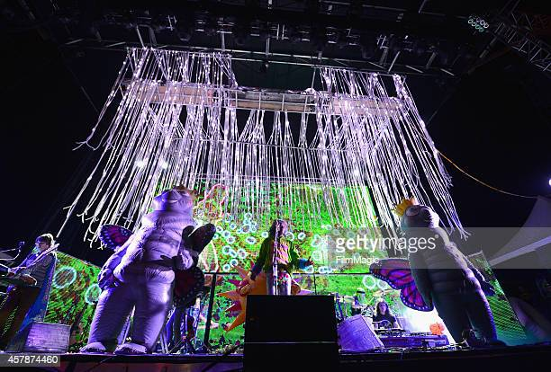 Musician Wayne Coyne of The Flaming Lips performs onstage during day 2 of the 2014 Life is Beautiful iestival on October 25 2014 in Las Vegas Nevada