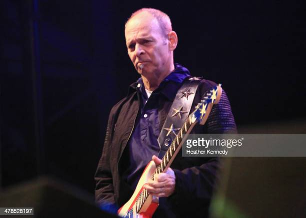 Musician Wayne Kramer performs onstage at the USPS Hendrix Stamp Event Los Lonely Boys during the 2014 SXSW Music Film Interactive at Butler Park on...