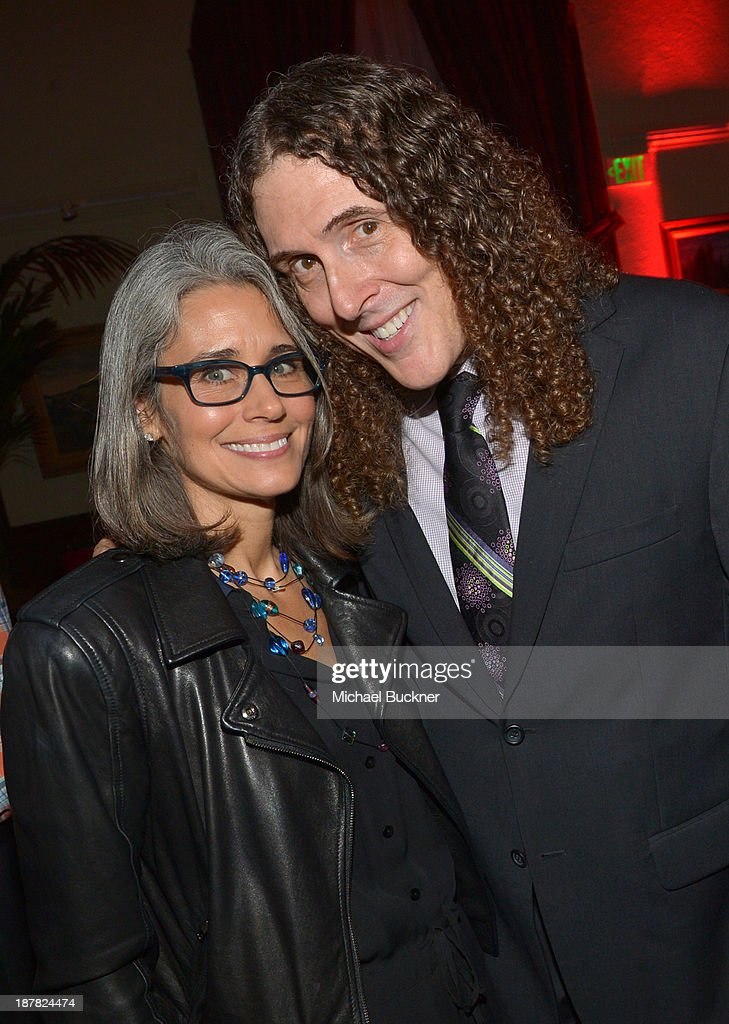 Musician <a gi-track='captionPersonalityLinkClicked' href=/galleries/search?phrase=Weird+Al+Yankovic&family=editorial&specificpeople=3958122 ng-click='$event.stopPropagation()'>Weird Al Yankovic</a> and Suzanne Krajewski attend the GQ Men Of The Year Party at The Ebell Club of Los Angeles on November 12, 2013 in Los Angeles, California.
